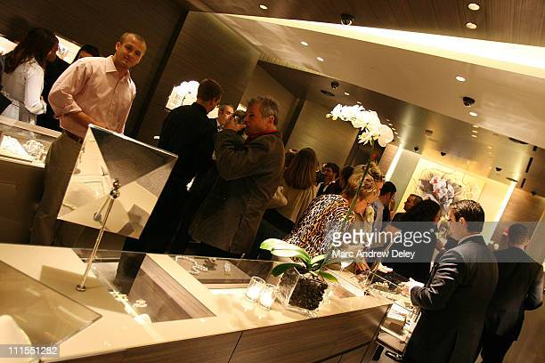 Guests view jewelry during a special in store cocktail reception hosted at David Yurman in conjunction with Boston Magazine September 19 2007 in...