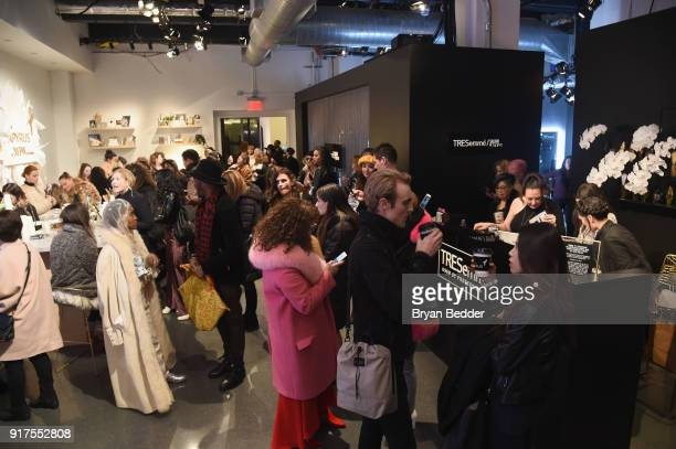 Guests visit the TRESemmé Salon at IMG NYFW The Shows at IMG NYFW The Shows LOBBY on February 12 2018 in New York City