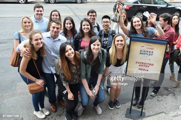 Guests wait in line outside of Pandora Up Close With Dierks Bentley Sponsored By Southwest on June 13 2018 in New York City