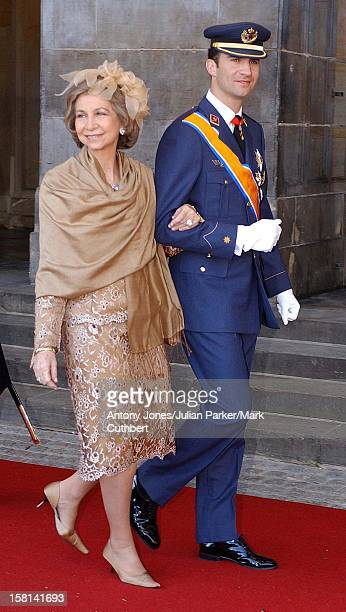 Guests Walk From The Royal Palace To The Nieuwe Kerk Church For The Wedding Of Crown Prince Willem Alexander And Maxima Zorreguieta 'The Queen Of...