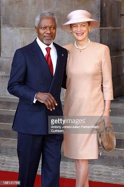 Guests Walk From The Royal Palace To The Nieuwe Kerk Church For The Wedding Of Crown Prince Willem Alexander And Maxima Zorreguieta Kofi Annan