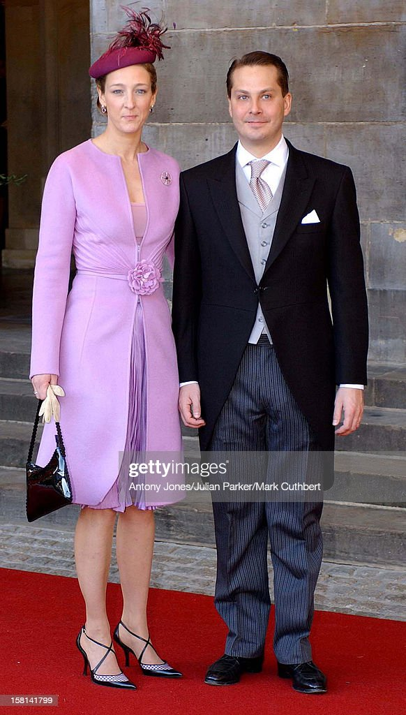 Guests Walk From The Royal Palace To The Nieuwe Kerk Church For The Wedding Of Crown Prince Willem Alexander And Maxima Zorreguieta. 'Princess Alexandra Berleburg' .