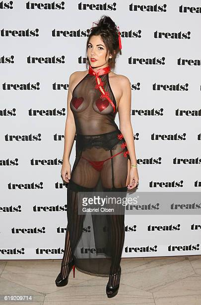 Guests walk the carpet at Trick or treats The 6th Annual treats Magazine Halloween Party Sponsored by Absolut Elyx on October 29 2016 in Los Angeles...