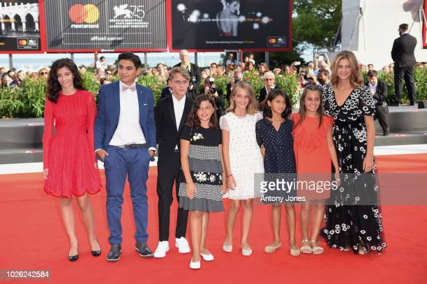 Guests walk the red carpet ahead of the 'My Brilliant Friend ' screening during the 75th Venice Film Festival at Sala Grande on September 2 2018 in...