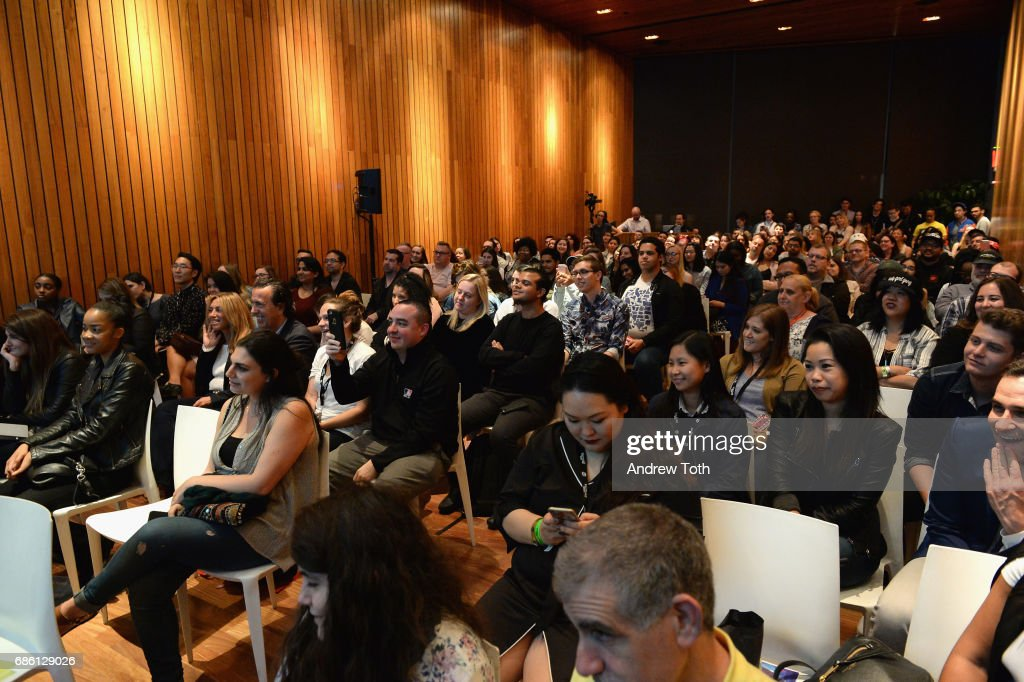 Guests watch as the cast of Riverdale series are interviewed