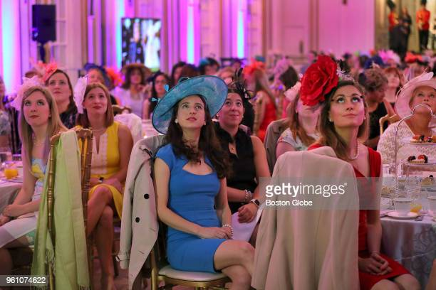 Guests watch the broadcast during a Royal Wedding viewing held in the ballroom of the Fairmont Copley Plaza Hotel in Boston on May 19 2018 Over 250...
