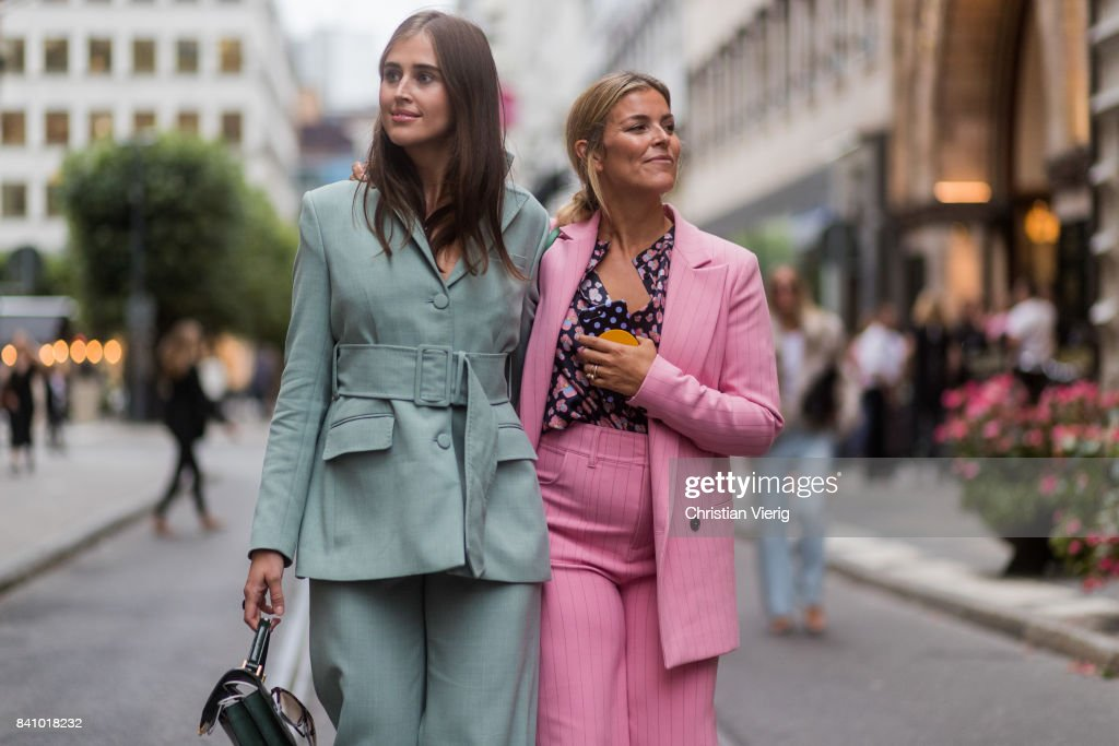 Street Style - Day 1 - Stockholm Fashion week Spring/ Summer 2018 : Photo d'actualité