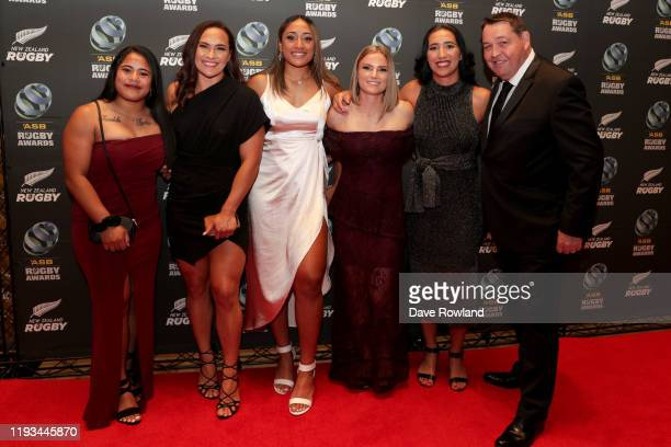 Guests with Steve Hansen during the New Zealand Rugby Awards at the Sky City Convention Centre on December 12 2019 in Auckland New Zealand