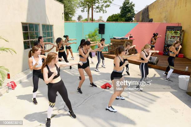 Guests work out during Puma's Do You Studio on July 28 2018 in Los Angeles California