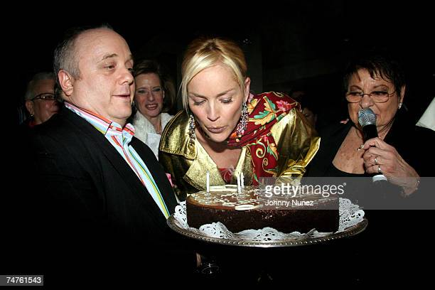 GuestSharon Stone and Eileen Mitzman at the Freds at Barney's in New York City New York