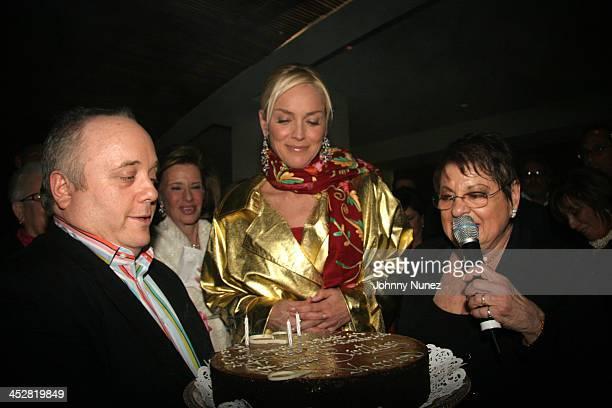 Guest,Sharon Stone and Eileen Mitzman