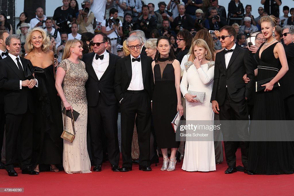 Guests,Woody Allen and his wife Soon-Yi Previn attend the Premiere of 'Irrational Man' during the 68th annual Cannes Film Festival on May 15, 2015 in Cannes, France.