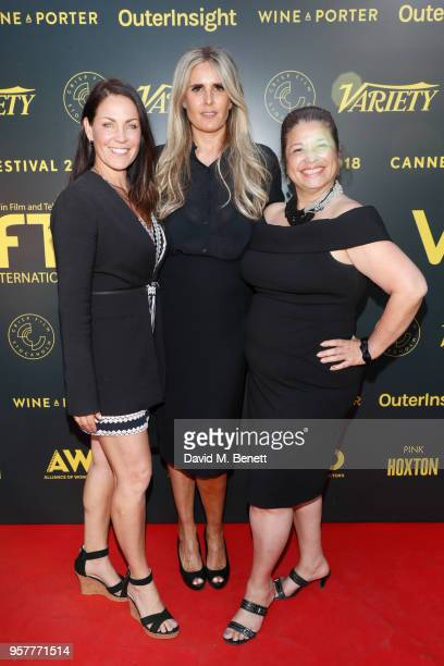 guestTiziana Rocca and Carol Bidault de l'Isle attend as WIFT International with Variety Alliance of Women Directors host a cocktail party during the...