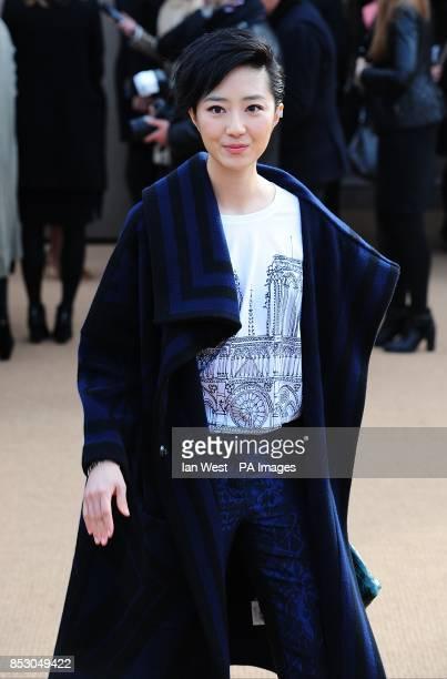 Guey LunMei arriving for the Burberry Prorsum Autumn/Winter 2014 show at Kensington Gardens London