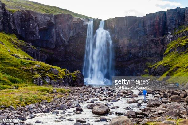 Gufufoss Waterfall near Seydisfjordur, Iceland