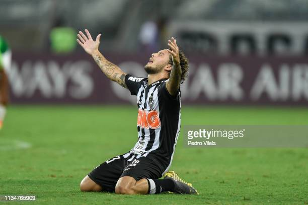 Guga of Atletico MG celebrates after the match between Atletico MG and Zamora as part of Copa CONMEBOL Libertadores 2019 at Mineirao stadium on April...