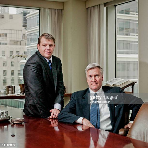 Guggenheim CEO Mark Walters and president Todd Boehly are photographed for Fortune Magazine on February 4 2013 in New York City