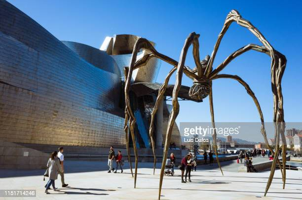 guggenheim museum bilbao - artistic product stock photos and pictures