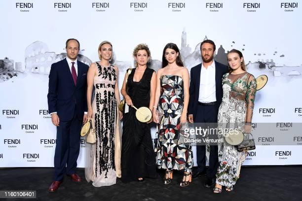 Guglielmo Di Cola Sara Sbaffi Ilaria Venturini Fendi Nina Pons Giulio Delettrez Fendi and Leonetta Luciano Fendi attends the Cocktail at Fendi...