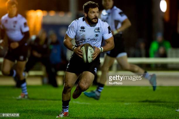 Guglielmo Palazzani of Zebre runs with the ball during the Guinness PRO14 Round 15 match between Connacht Rugby and Zebre Rugby at the Sportsground...