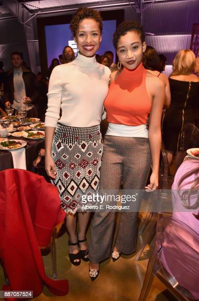 Gugu MbathaRaw and Amandla Stenberg attend The Hollywood Reporter's 2017 Women In Entertainment Breakfast at Milk Studios on December 6 2017 in Los...