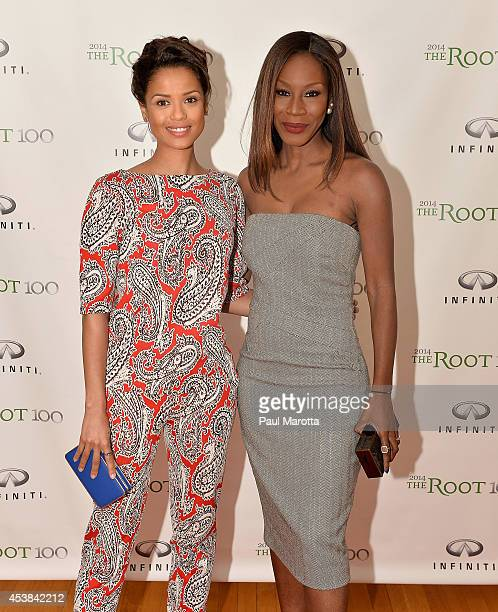 Gugu MbathaRaw and Amma Asante attend the Root 100 2014 List Release Reception on August 19 2014 in Edgartown Massachusetts