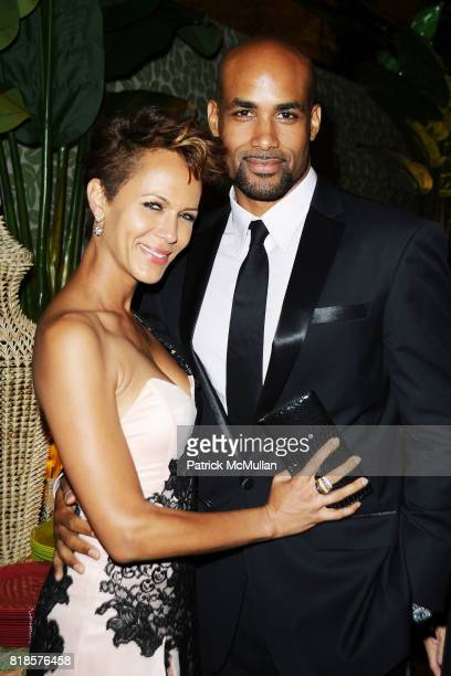 Gugu MbathaRaw and Boris Kodjoe attend HBO EMMY After Party at Pacific Design Center on August 29 2010 in West Hollywood CA