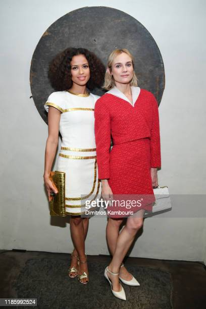 Gugu MbathaRaw and Diane Kruger attends Through Her Lens The Tribeca CHANEL Women's Filmmaker Program Cocktail at Greenwich Hotel Penthouse on...