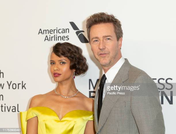 Gugu MbathaRaw and Edward Norton attend Motherless Brooklyn premiere during 57th New York Film Festival at Alice Tully Hall