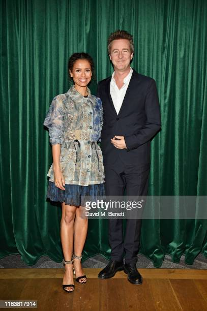 Gugu MbathaRaw and Edward Norton attend the Motherless Brooklyn BAFTA screening reception at Vue Leicester Square on November 21 2019 in London...