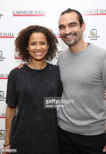 Gugu MbathaRaw and Javier Munoz attend The Children's Monologues at Carnegie Hall on November 13 2017 in New York City