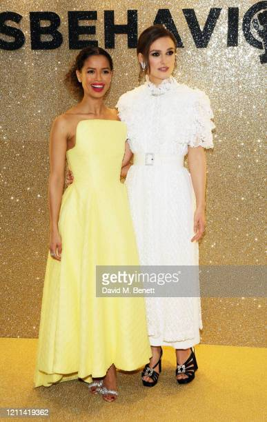 Gugu MbathaRaw and Keira Knightley attend the World Premiere of Misbehaviour at The Ham Yard Hotel on March 09 2020 in London England