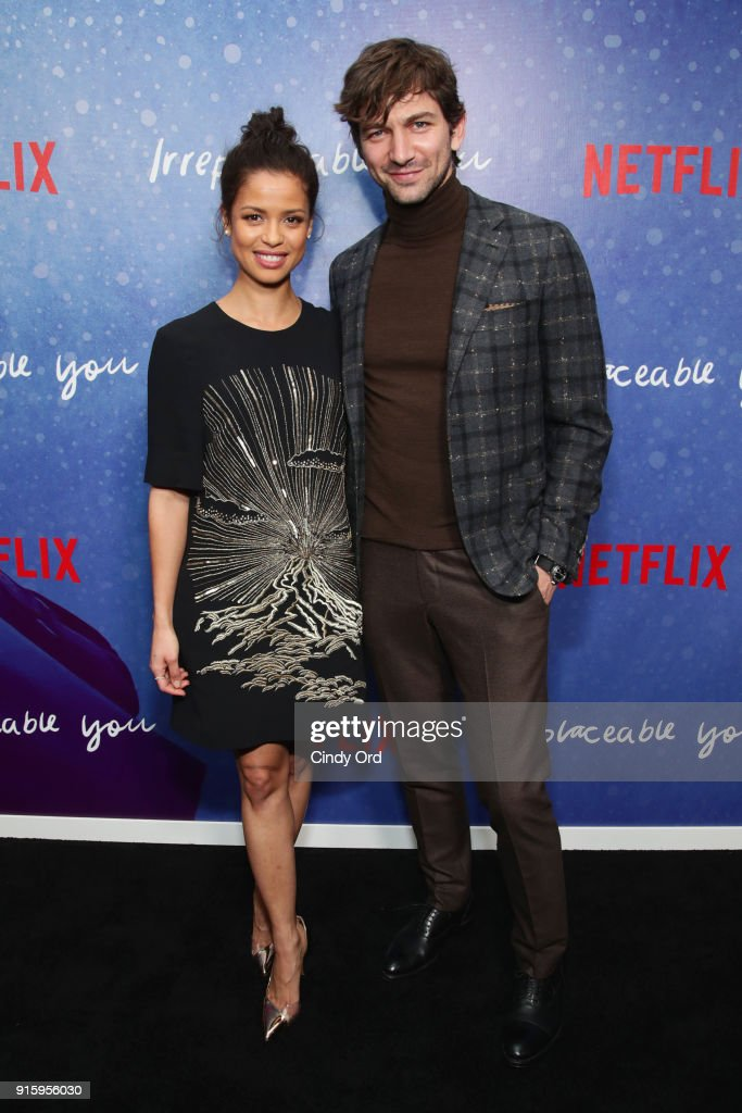 Gugu Mbatha-Raw and Michiel Huisman attend the Special Screening of the Netflix Film 'Irreplaceable You' at The Metrograph on February 8, 2018 in New York City.