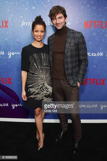 Gugu MbathaRaw and Michiel Huisman attend the Special Screening of the Netflix Film 'Irreplaceable You' at The Metrograph on February 8 2018 in New...