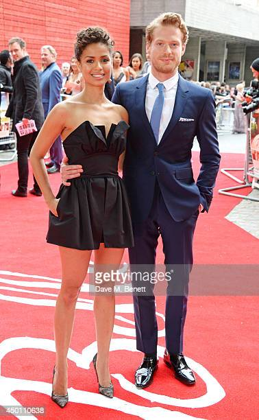 """Gugu Mbatha-Raw and Sam Reid attend the UK Premiere of """"Belle"""" at BFI Southbank on June 5, 2014 in London, England."""