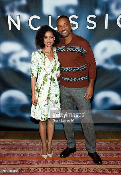 Gugu MbathaRaw and Will Smith attend the Concussion Cast Photo Call at Crosby Street Hotel on December 14 2015 in New York City