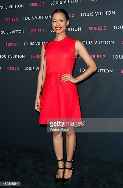 Gugu MbathaRaw arrives at Louis Vuitton Series 2 The Exhibition on February 5 2015 in Hollywood California