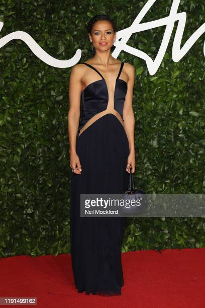 Gugu Mbatha-Raw arrives at The Fashion Awards 2019 held at Royal Albert Hall on December 02, 2019 in London, England.