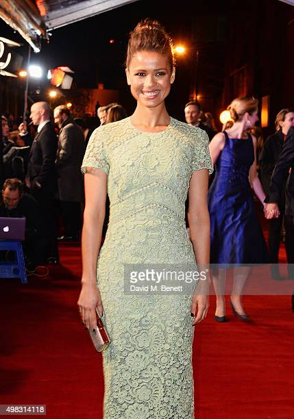Gugu MbathaRaw arrives at The London Evening Standard Theatre Awards in partnership with The Ivy at The Old Vic Theatre on November 22 2015 in London...