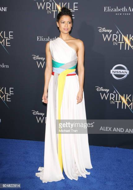 Gugu MbathaRaw arrives at the Los Angeles premiere of Disney's 'A Wrinkle In Time' held at El Capitan Theatre on February 26 2018 in Los Angeles...