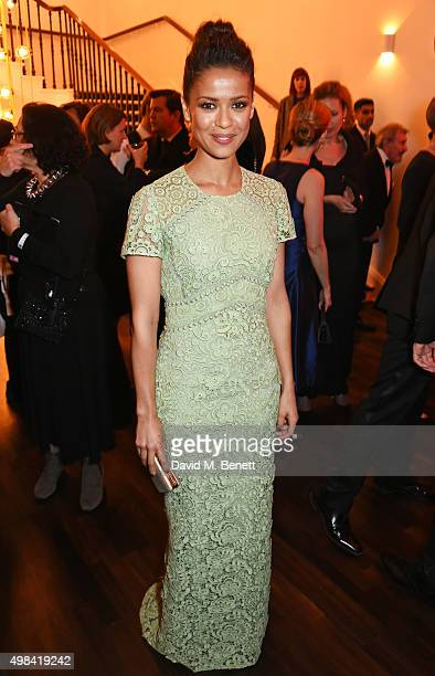 Gugu MbathaRaw attends a champagne reception ahead of The London Evening Standard Theatre Awards in partnership with The Ivy at The Old Vic Theatre...