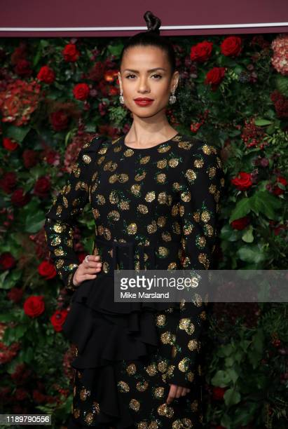 Gugu MbathaRaw attends the 65th Evening Standard Theatre Awards at the London Coliseum on November 24 2019 in London England