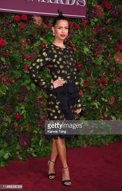 Gugu MbathaRaw attends the 65th Evening Standard Theatre Awards at London Coliseum on November 24 2019 in London England