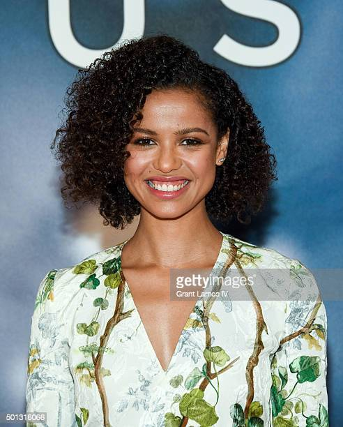 """Gugu Mbatha-Raw attends the """"Concussion"""" Cast Photo Call at Crosby Street Hotel on December 14, 2015 in New York City."""