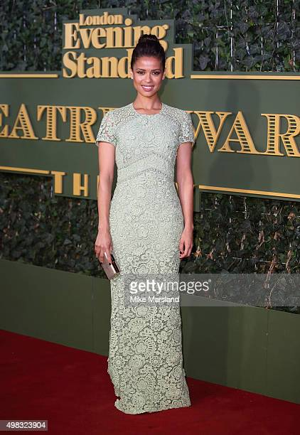 Gugu MbathaRaw attends the Evening Standard Theatre Awards at The Old Vic Theatre on November 22 2015 in London England
