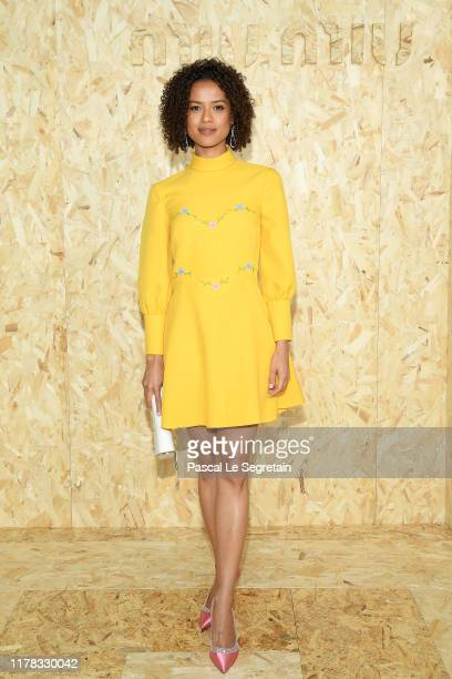 Gugu MbathaRaw attends the Miu Miu Womenswear Spring/Summer 2020 show as part of Paris Fashion Week on October 01 2019 in Paris France