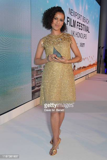 Gugu Mbatha-Raw attends the Newport Beach Film Festival 6th Annual UK Honours at The Langham Hotel on January 29, 2020 in London, England.