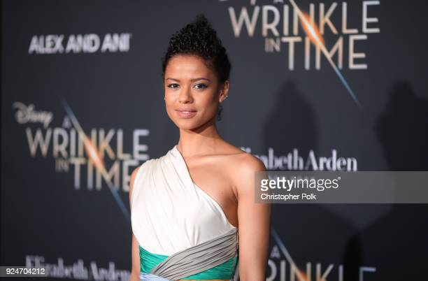 Gugu MbathaRaw attends the premiere of Disney's A Wrinkle In Time at the El Capitan Theatre on February 26 2018 in Los Angeles California