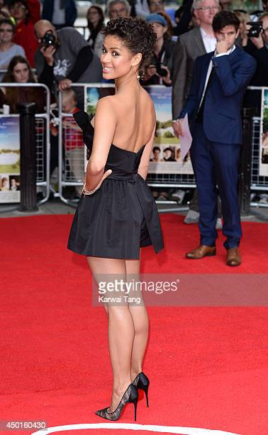 Gugu MbathaRaw attends the UK Premiere of Belle at BFI Southbank on June 5 2014 in London England