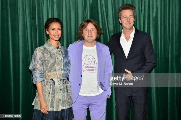 Gugu MbathaRaw Daniel Pemberton and Edward Norton attend the Motherless Brooklyn BAFTA screening reception at Vue Leicester Square on November 21...